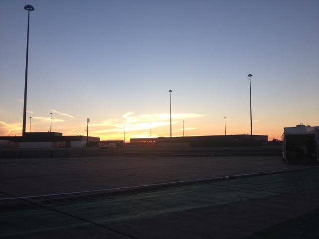 The terminal at sunset.