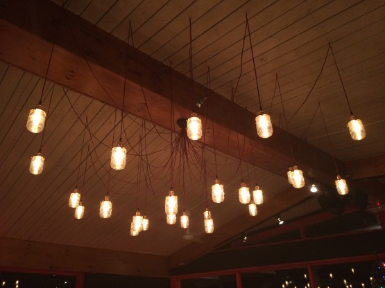 The chandelier - very creative!