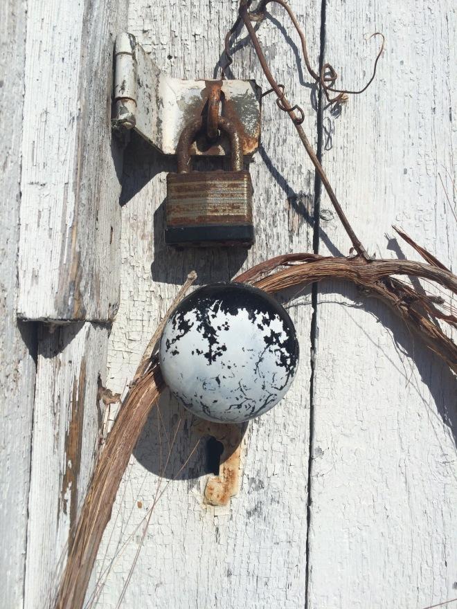 A historic doorknob.