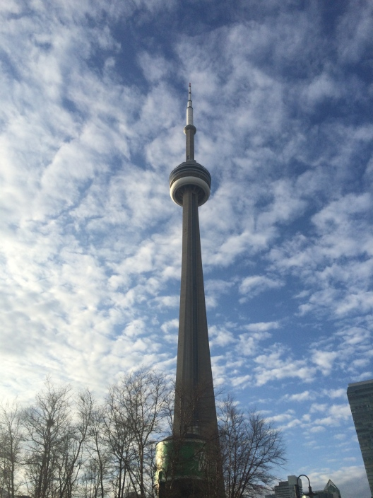 Set your sights high! This is the CN Tower in Toronto.