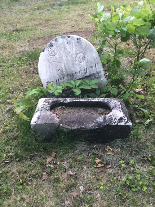 It's always sad to see a vandalized headstone. I wonder if this person's descendents have any idea.