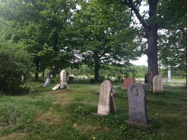 Some headstones date to the mid to late 1800s.