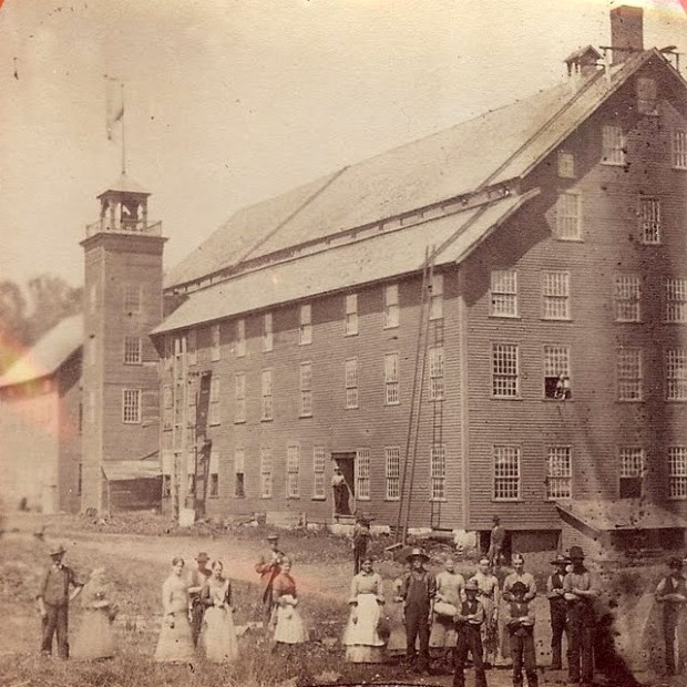 Greenbanks Mill, South Danville, probably around 1885. Photo source: Danville Historical Society. Click for link.