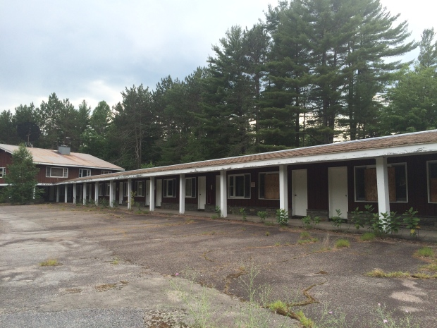 The Frontier Town Motel off US Route 9 in North Hudson, New York.