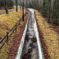 The 1932 Olympic bobsled/skeleton track in Lake Placid. (Not the one they use today!) #presinpink